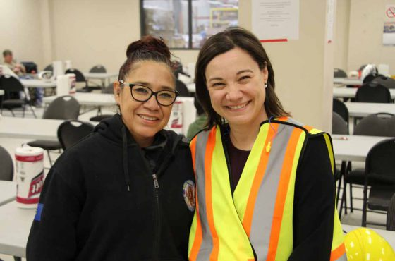 Minister Shannon Phillips visits Triple M in Lethbridge